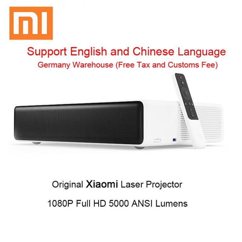 Оригинальный Xiaomi Mijia лазерная проекция ТВ-Проектор 150 дюймов 1080 Full HD Поддержка 4 K Bluetooth 5000 ANSI люмен видеопроектор HDMI
