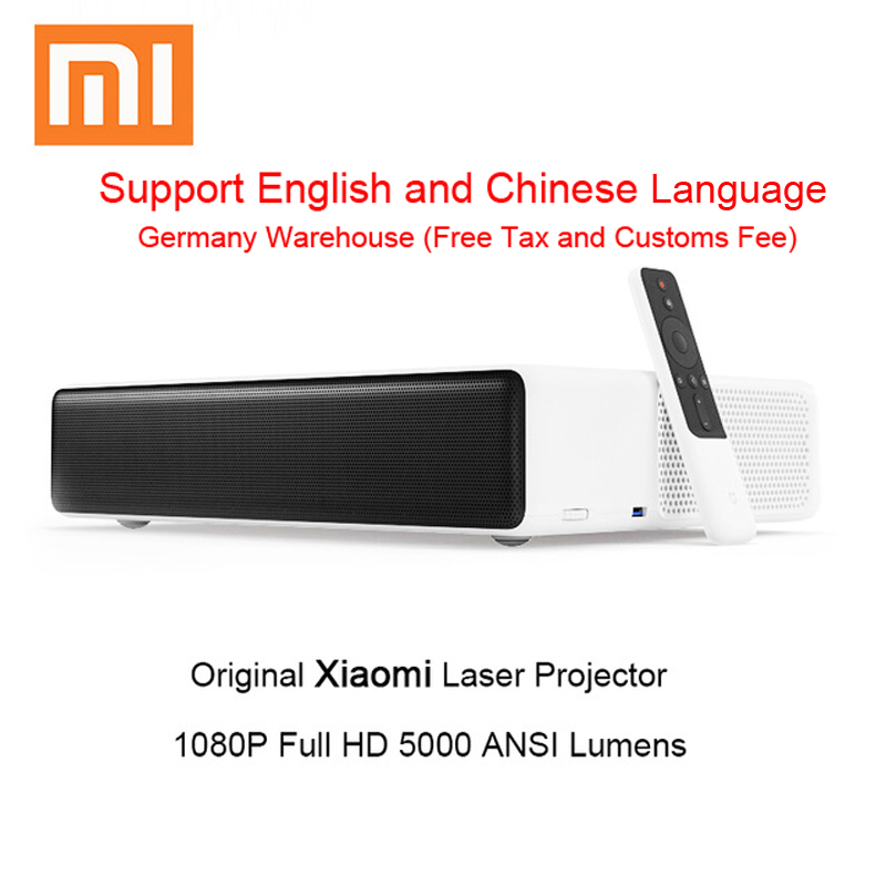 Оригинальный Xiaomi Mijia лазерная проекция проектор ТВ 150 дюймов 1080 Full HD Поддержка К 4 к Bluetooth 5000 ANSI люмен видеопроектор HDMI