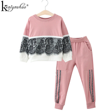 Girl Clothes Autumn Kids Sport Suits Children Clothing Sets T-shirt+Pants 2Pcs Cotton Girls Clothes Tracksuits For Girls