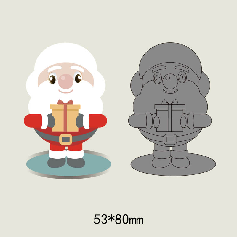 Christmas Santa Claus metal cutting dies cut die mold new Scrapbook paper craft knife mould blade punch stencils dies Embossing in Cutting Dies from Home Garden