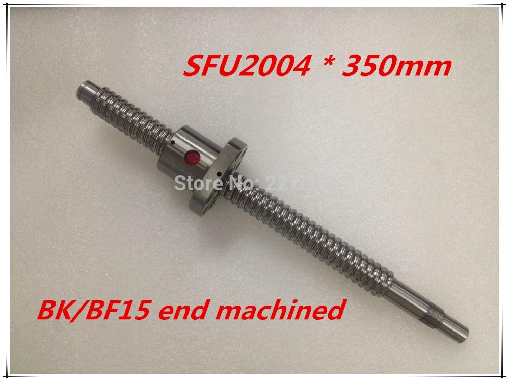 SFU2004 350mm Ball Screw Set : 1 pc ball screw RM2004 350mm+1pc SFU2004 ball nut cnc part standard end machined for BK/BF15 sfu2004 600mm ball screw set 1 pc ball screw rm2004 600mm 1pc sfu2004 ball nut cnc part standard end machined for bk bf15