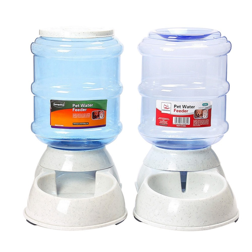 High quality 3.5L pet Cats Dogs Automatic Feeder Drinker Cat Feeding Bottle Food Bowl Water Dispenser Pet Supplies image