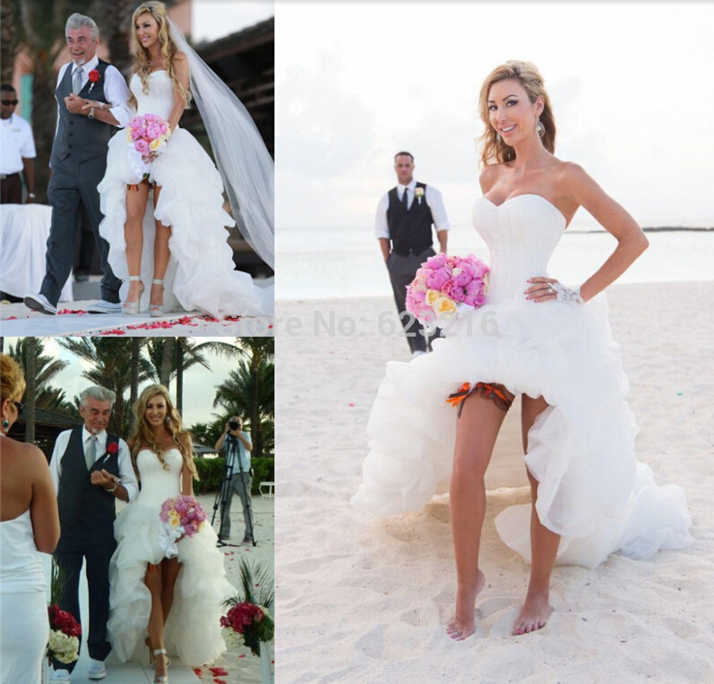 Aliexpresscom buy 2015 high low beach wedding dress off for Wedding dresses for the beach 2015