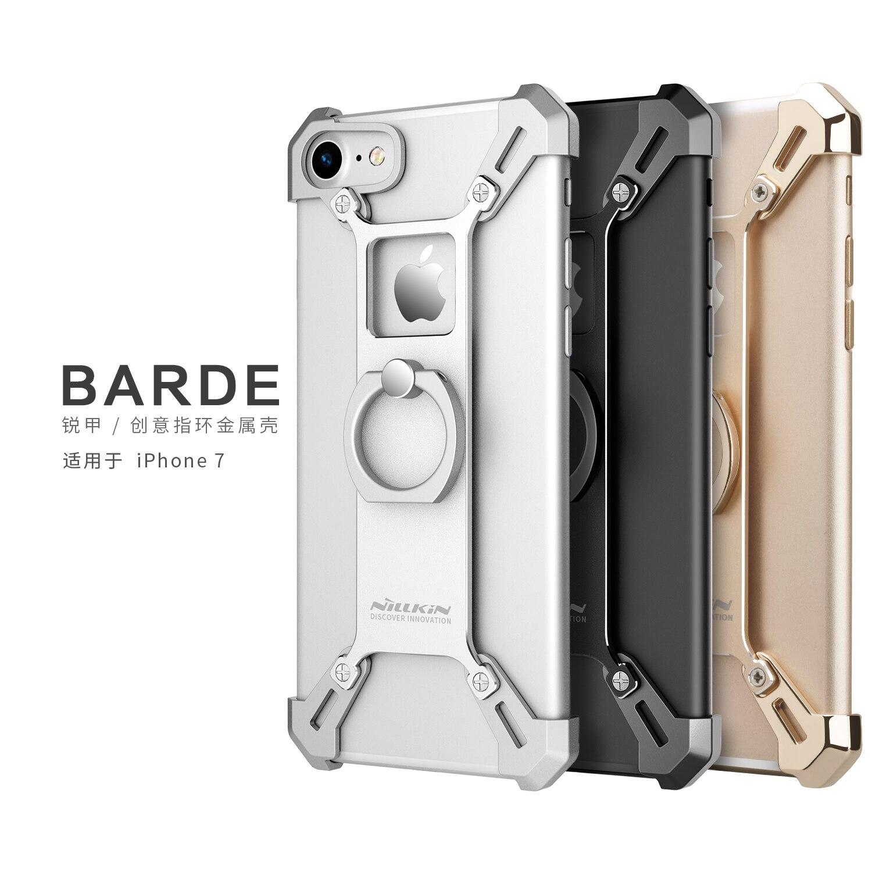 bilder für NILLKIN Barde Metallgehäuse mit Ring Halter für iPhone 7 zurück Abdeckung für iPhone7 Fingerring Halter Fall zink-legierung rand