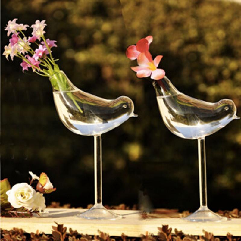 creativo pjaro alto florero de cristal decoracin del hogar jarrn decoracin del hotel flor de
