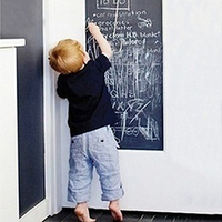 Removable Large Chalkboard Wall Sticker Gift For Kids Blackboard 5 Chalks