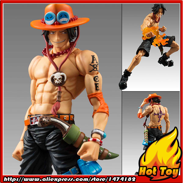 100 Original MegaHouse Variable Action Heroes Action Figure Portgas D Ace from ONE PIECE
