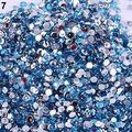 Caliente AB 3mm Perlas Rhinestones del Cristal del Hotfix Flatback de Acrílico Nail Salon de Arte Pegatinas DIY Decoraciones Studs