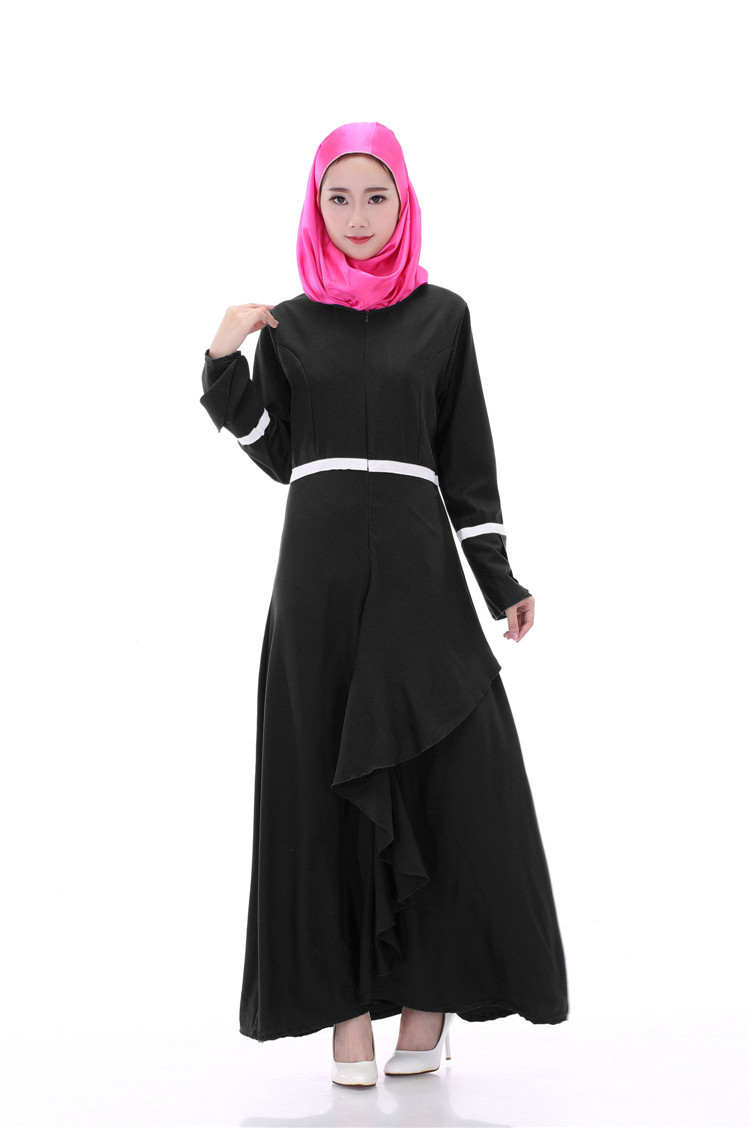 0a6991bed5 Muslim dress female Hui ethnic women put lotus long sleeved robes Pakistan  Muslim Malay clothing wholesale-in Islamic Clothing from Novelty & Special  ...