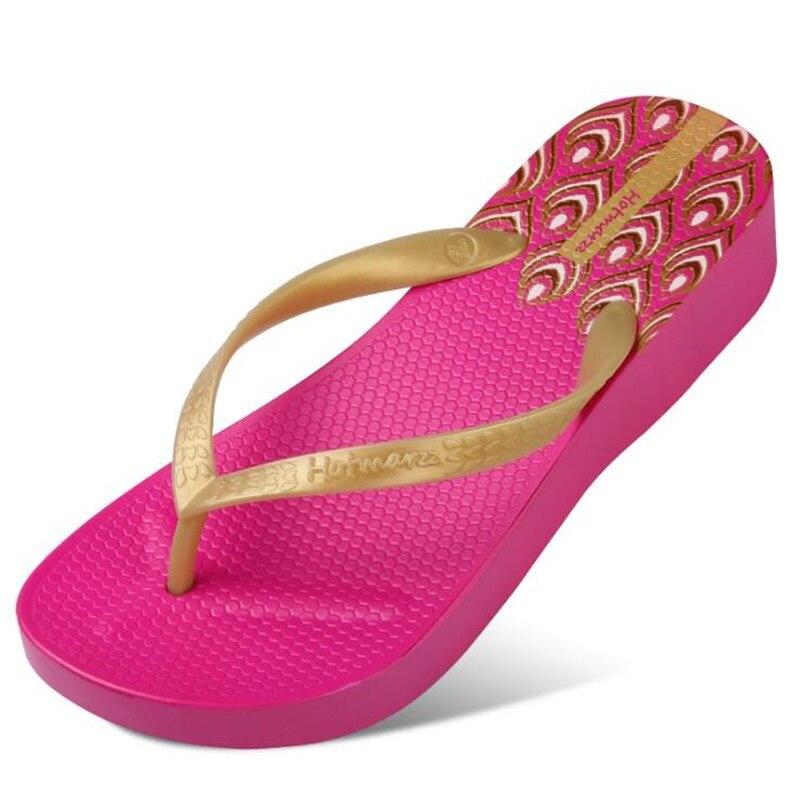 56384f721 New Women High Heel Platform Flip Flops Wedges Slippers Ladies Summer  Slippers Woman House Shoes Beach Thong Sandals