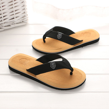 KESMALL Summer Beach Slippers Men Flip Flops High Quality Beach Sandals Zapatos Hombre Casual Shoe Wholesale WS321 1