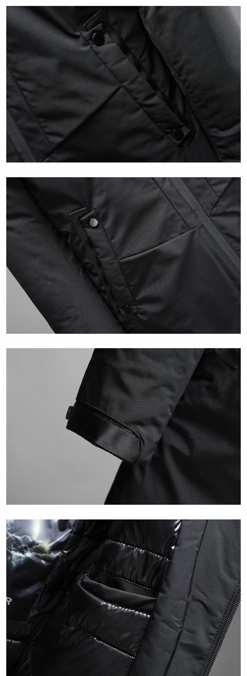 Schmuck & Zubehör Winter Warme Ente Unten Jacke 2018 Mann Lässig Komfortable Art Und Solide Wolle Liner Mantel Jacke Drei Farben L-4xl