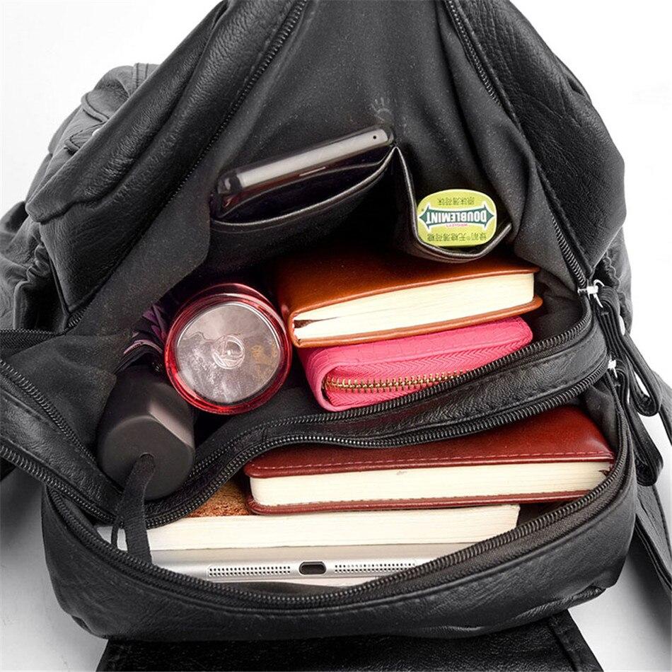de couro macio sacos de escola para