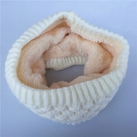 10 pcs/lot New Winter Scarf Women Children Boys Scarf Thickened Wool Collar Scarves Girls Neck Scarf Cotton Unisex