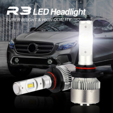 JGAUT R3 Mini 9005 9006 HB3 HB4 LED Headlight Kit 6500K White Car Bulbs Lamps Light Conversion Fog High Low Beam Turbo Driving(China)