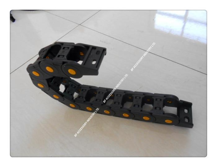 Innendurchmesser öffnungsabdeckung Pa66 Freies Verschiffen 1 Mt 25*57mm Kunststoff Energieführungskette Für Cnc-maschine