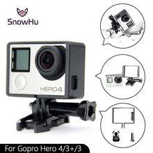 SnowHu For gopro New Standard Camera Border Frame Mount Protective Housing Case for Sport Gopro Hero  4 3+ 3 GP71