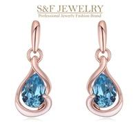 100 Original SWAROVSKI 18K Gold Crystal For Women Fine Jewelry High Quality Water Drop Trendy Crystal