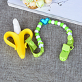 Round Beads Pacifier Chain Fashion Plastic Pacifier Clips For Dummies BPA Free baby funny soothers Nipple Clamps Holder Clip