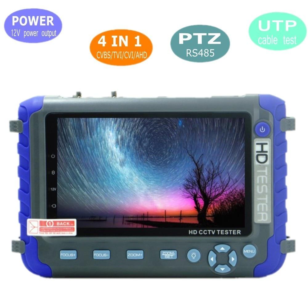 5MP 4 en 1 AHD TVI CVI CVBS testeur de caméra de vidéosurveillance avec moniteur LCD 5 pouces intégré 18650 testeur de caméra de sécurité batterie Audio RS485