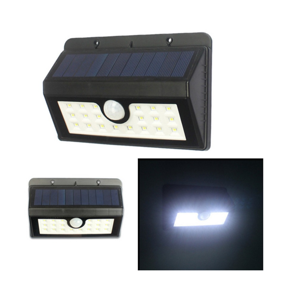 20 Led Solar Light Pir Motion Sensor Solar Powered Wall Light Outdoor Led Fence Garden Light
