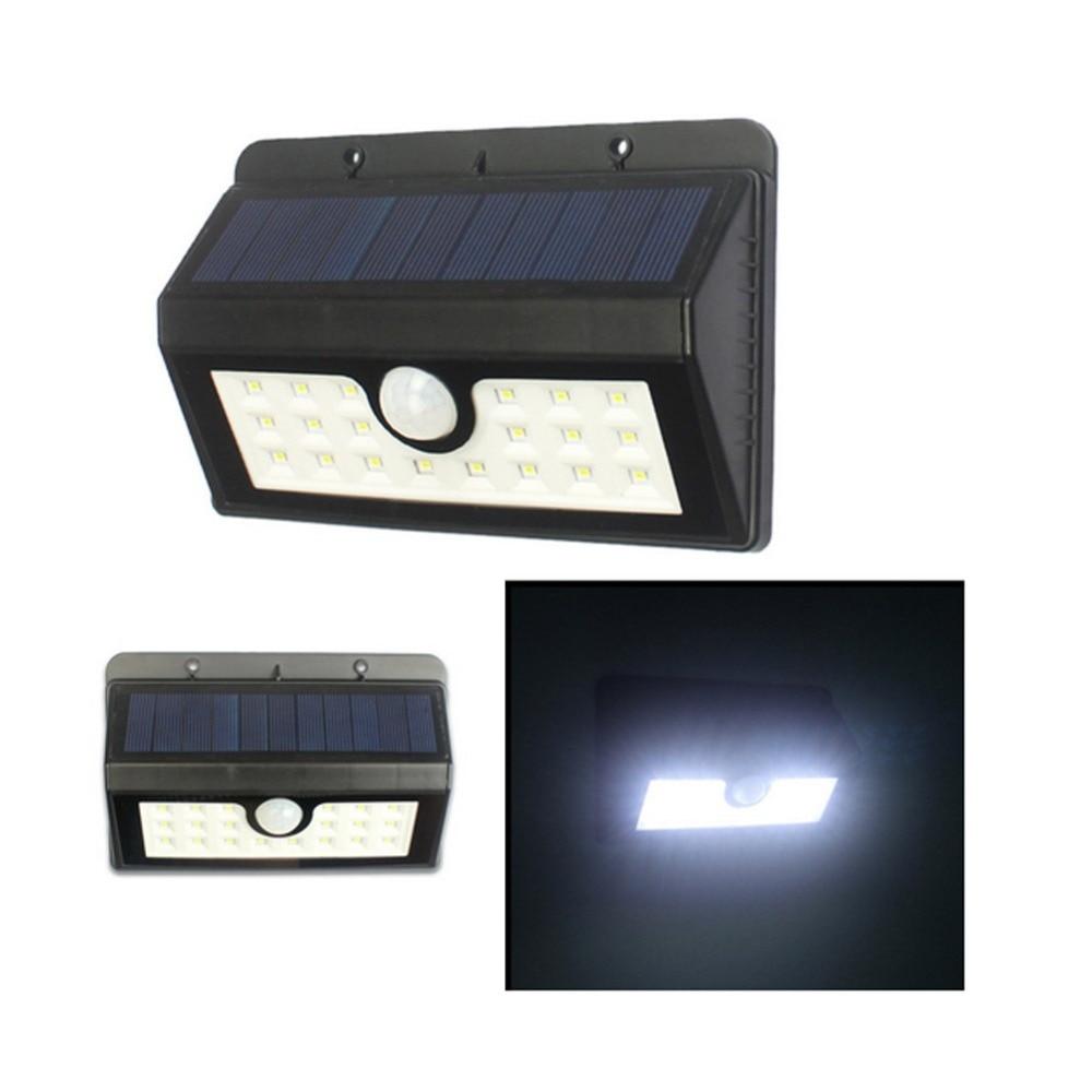 20 led אור שמש pir motion חיישן גדר שמש מופעל על קיר אור חיצוני led קיר אור נתיב גן מנורת חירום