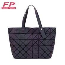2018 новые женские Bao сумки Геометрия складные сумки светящиеся каналы сумки, повседневные торбы Bao женские сумки на плечо сумка через плечо, Bolsa