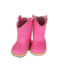 7cm doll shoes 5color Lace Up PU Martin Boots Shoes Mini Toy Shoes1/6 For Zapf Baby Born American girl Doll Accessories