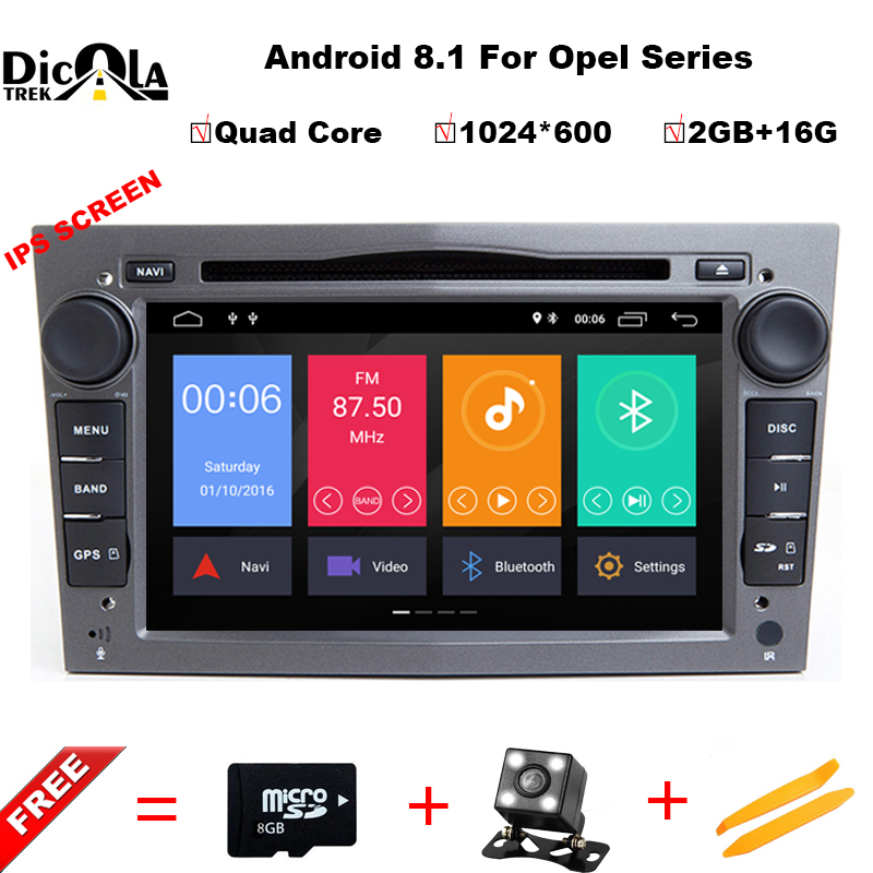 IPS Android 8.1 car dvd for Opel Vauxhall Astra Meriva Vectra Antara Zafira Corsa Agila gps radio video wifi multimedia player