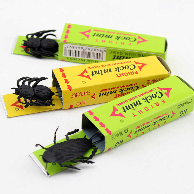 ... Joke Chewing Gum Shocking Toy Gadget Prank Trick Gag Gifts Funny Shock Plastick Cockroach Chewing Gum