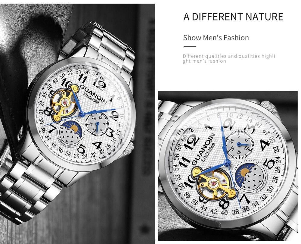 HTB1FJrRc8GE3KVjSZFhq6AkaFXal GUANQIN 2019 clock men's/mens watches top brand luxury automatic/mechanical/luxury watch men gold tourbillon mens reloj hombre