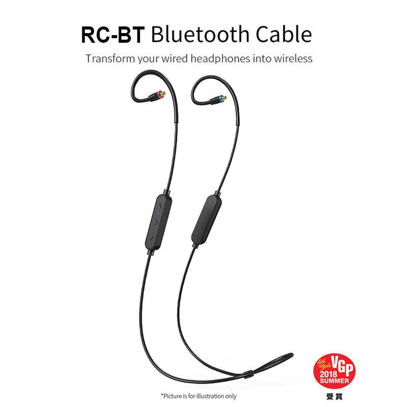 FIIO RC BT Bluetooth 4.1 wireless earphone MMCX Cable supports APTX AAC SBC CSR8645 10h Battery life RCBT for F9 PRO Earphone Accessories Consumer Electronics - title=