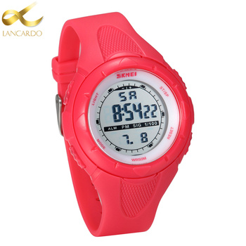 цена на Lancardo Children Watch Outdoor Sports Kids Boy Girls LED Digital Alarm Stopwatch Pink/Black Wristwatch Children's Dress Watches