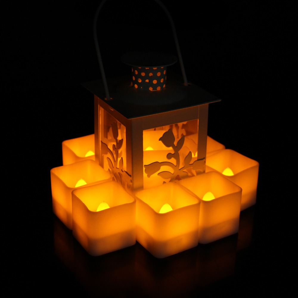5009158639_1650456754  12pcs Flickering LED Candles Sq. Pillar Faux Candle Electrical Tealight for Residence Decor Wedding ceremony Events HTB1FJreB41YBuNjy1zcq6zNcXXab