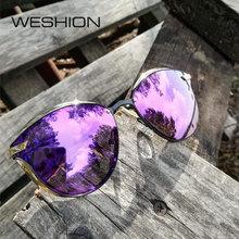 WESHION Cat Eye Sunglasses Women Polarized Brand Designer Ladies Sun Glasses Woman UV400 Eyeglassses Gafas Polarizadas Hombres