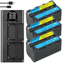 NP F770 para Sony NP F750 Cargador USB LED F770 NP f750 NPF770, batería de 5200mAh + NP F550 para Sony NP F770 NP F750 F960 F970
