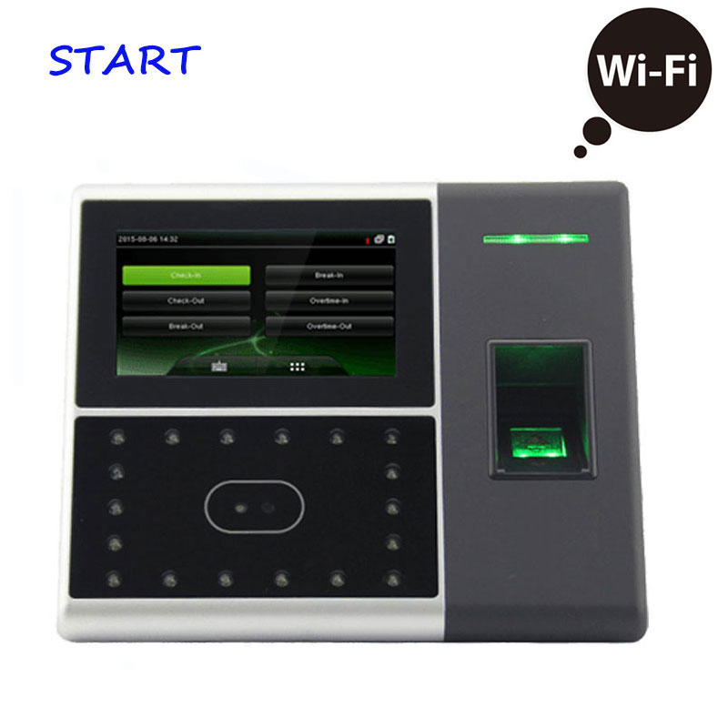 Iface302 Wifi Biometric Face Time Attendance And Access Control System Fingerprint Reader Wifi Terminal