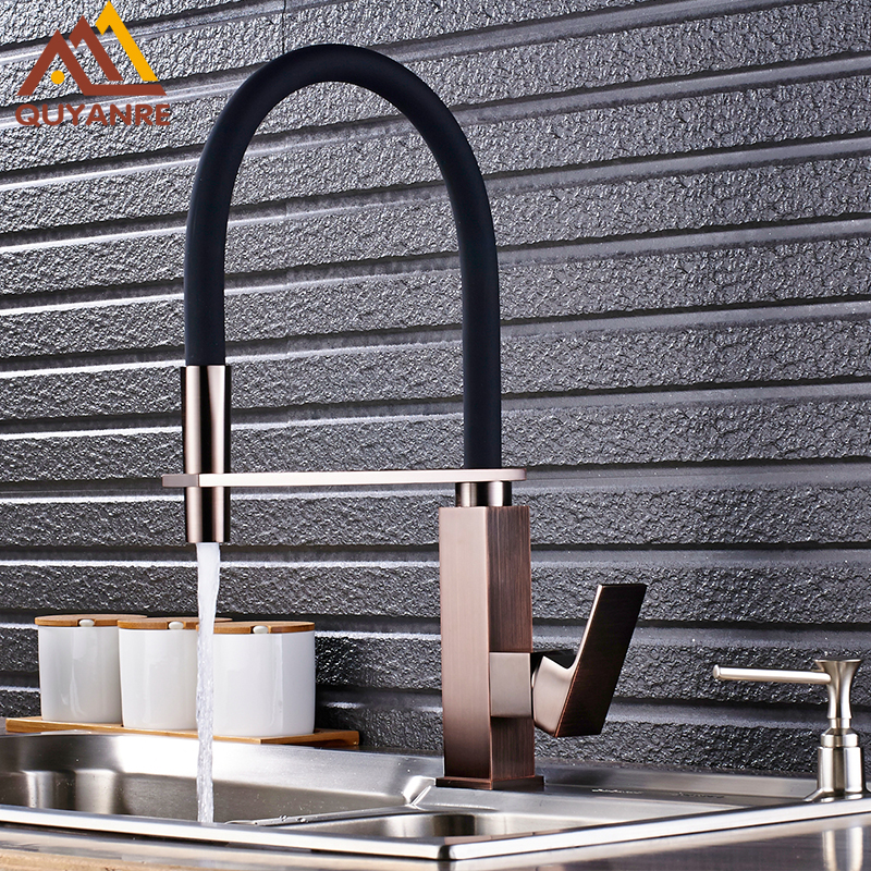 Solid Brass Brushed Nickel Kitchen Pull Down Faucet Mixer Sink Faucet Pull out Taps For Sink