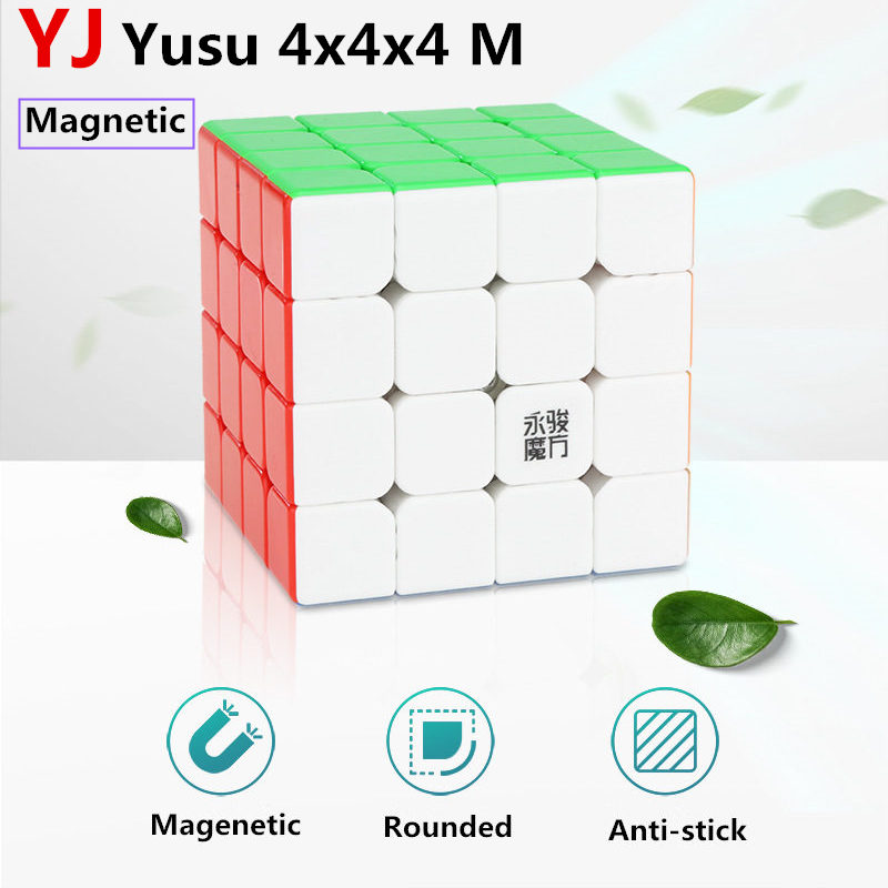 Yj Yusu 4x4x4 M Magnetic Magic Speed Cube Stickerless Magnets Puzzle Cubes Educational Toys For Children