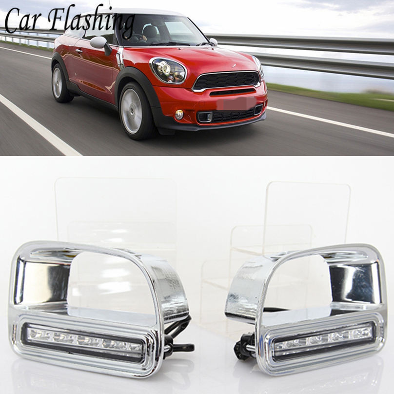 Car Flashing car styling For BMW Mini Cooper Countryman LED DRL Daytime Driving Running Light Daylight