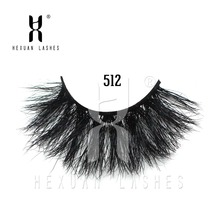 HEXUAN 25mm lashes 3d mink handmade full strip crisscross dramatic eyelashes volume E80 false eyelash