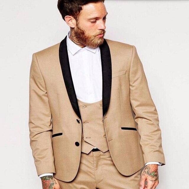 Khaki Wedding Tux: Aliexpress.com : Buy HB039 Khaki Latest Groom Tuxedos