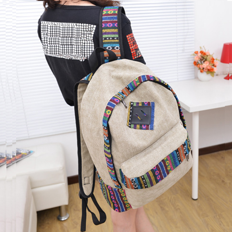 Unisex backbag Canvas backpacks Rucksack Back Pack Double shoulder bags  canvas Teenage free drop shipping Recruitment 186e85c9e84bd