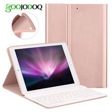 Keyboard Case For iPad 2018 Air 2 / Air 1 / for iPad 2017 2018 Case 9.7 Silicone Soft Back Inside Smart Cover Multi-Angle Stand(China)