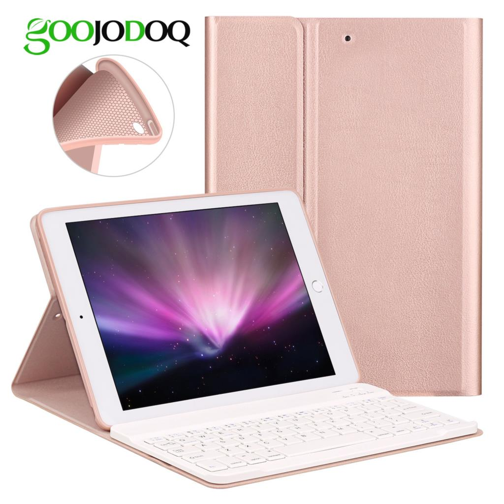 Keyboard Case For iPad 2018 Air 2 / Air 1 / for iPad 2017 2018 Case 9.7 Silicone Soft Back Inside Smart Cover Multi-Angle Stand цена