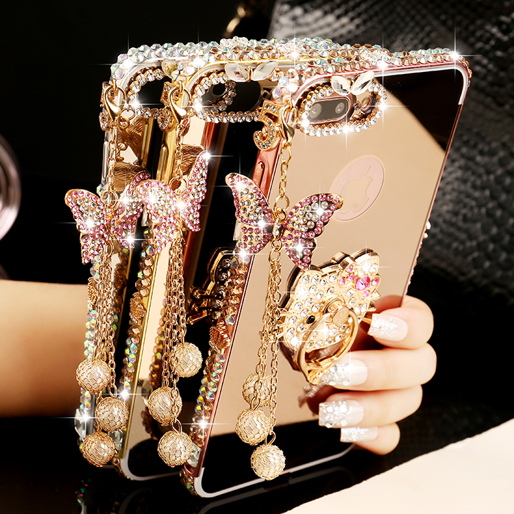 70ea39c5c8 ᐊ Buy transparent diamond patterns bling iphone 6 case and get free ...