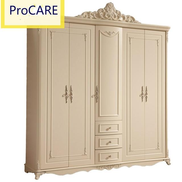 European style 5 doors wardrobe for bedroom set-in Wardrobes from ...