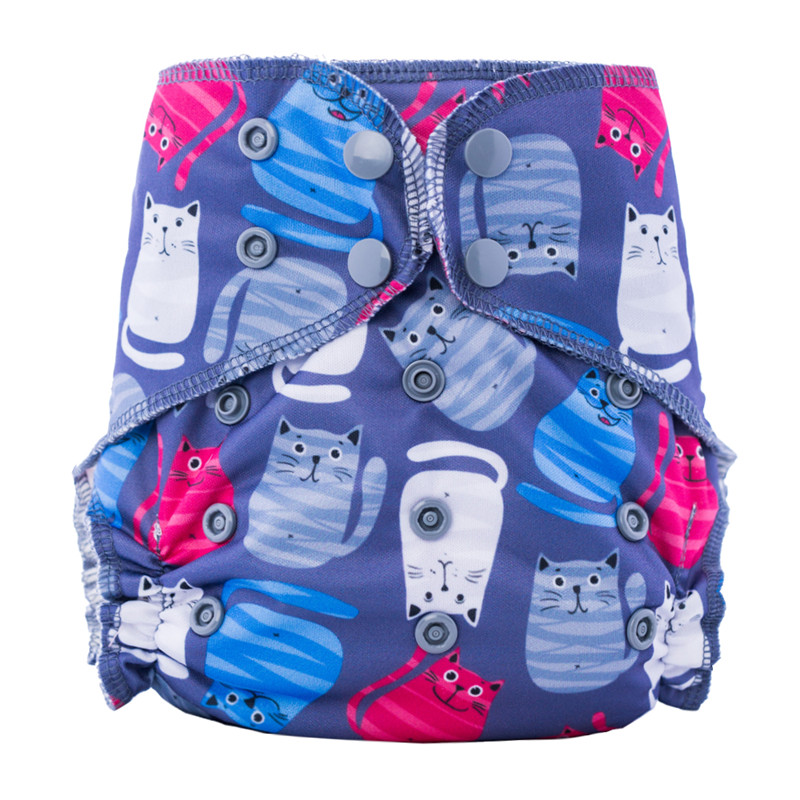 Happy Flute Organic Bamboo Cotton Overnight AIO Cloth Diaper Night Use Heavy Wetter Baby Diapers