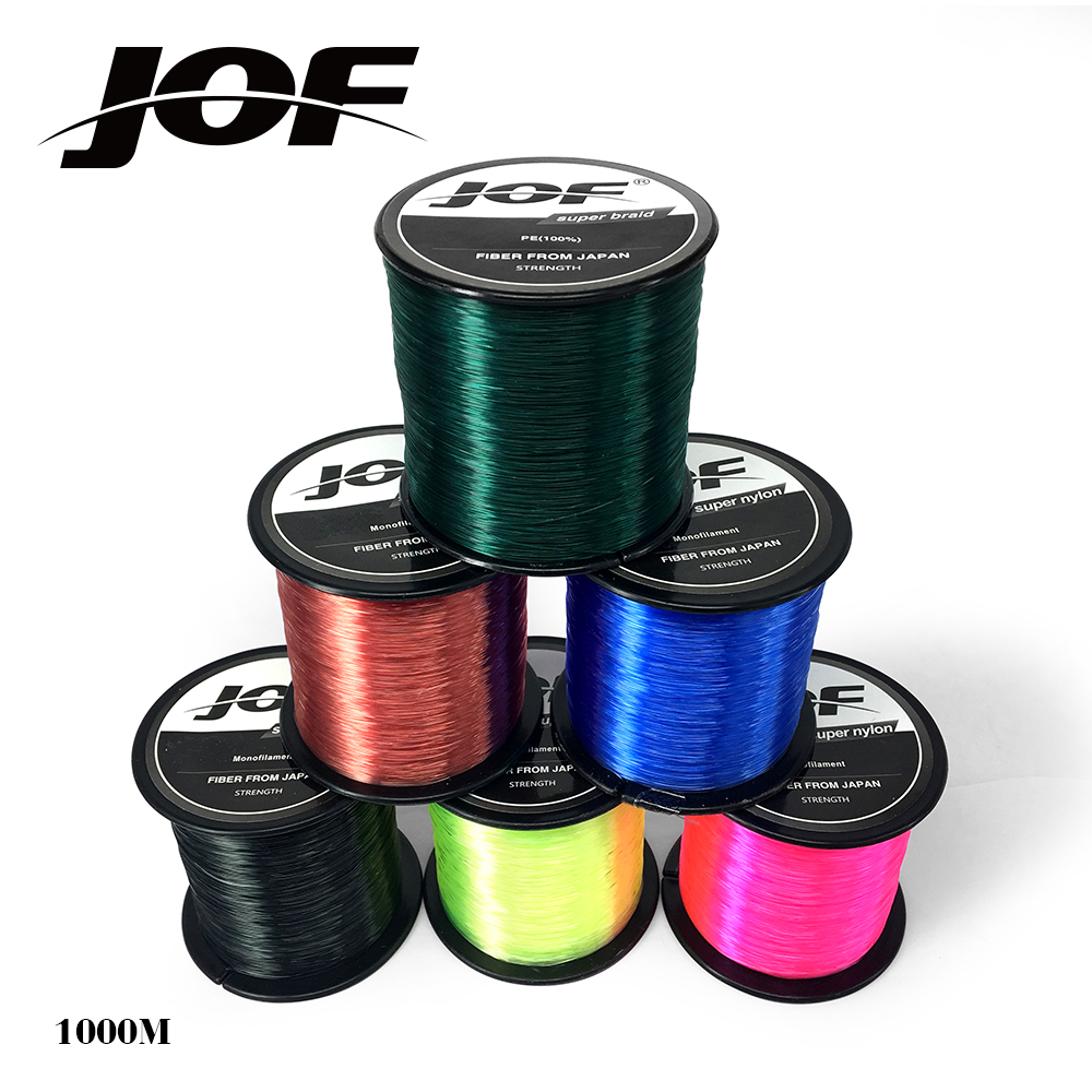 1000M Super Strong Nylon Fishing Line 4.4LB - 28.6LB 7 Colors Japan Monofilament Main Line For Carp Fishing
