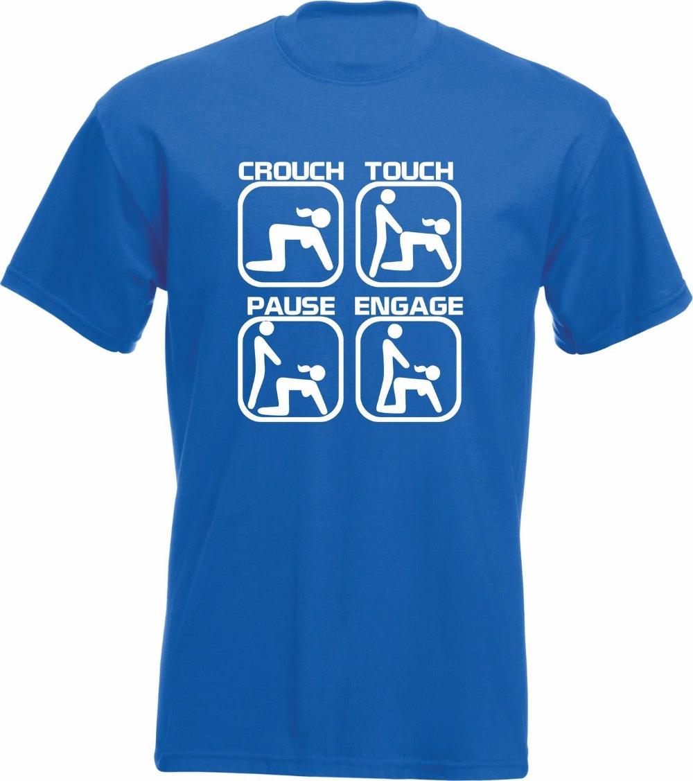 Touch Pause Crouch Engage Funny Rugby Scrum T-Shirt TShirt Rugby Gift